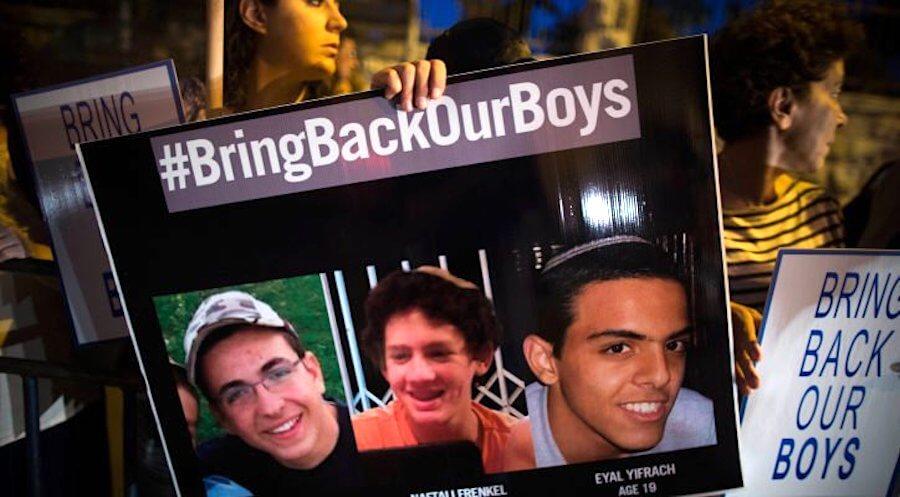 three kidnapped Jewish teenagers