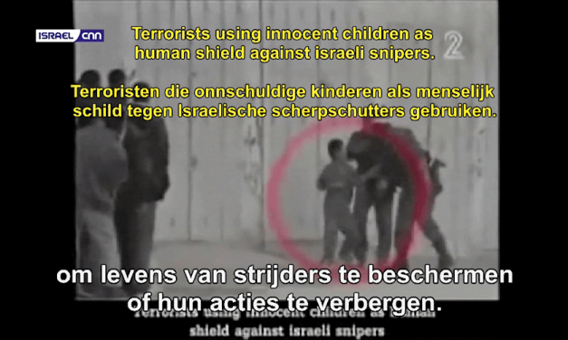 Kinderen als menselijk schild gebruikt in Gaza – Children used as human shields in Gaza
