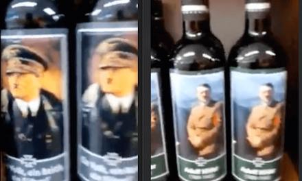 2021-10-26: Italiaans bedrijf produceert massaal wijnflessen met Hitler-etiket ******* Italian Company Mass Produces Hitler-Labeled Wine Bottles